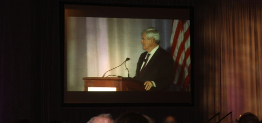Newt Gingrich speaks at the Forum this morning