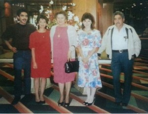 Familia Rodezno 1980s – Víctor, Silvia, Irma, Linda and Victorino