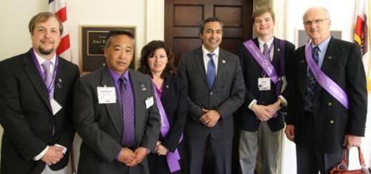 Eric, Patricio, Linda, Congressman Ami Bera, Zack and Paul