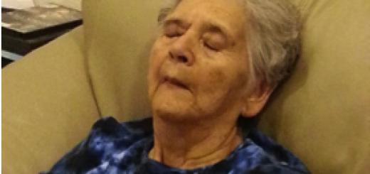 Mom resting, June 2013