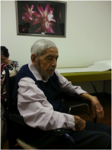 Dad waiting for the doctor, May 2013