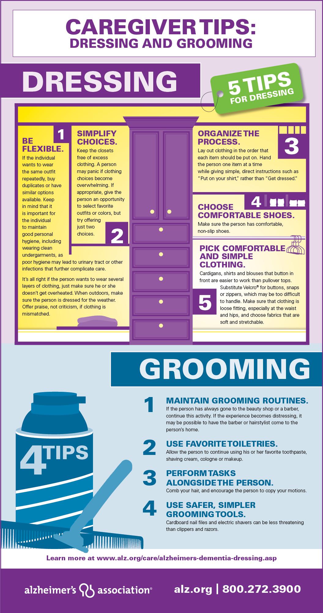 Dressing & Grooming | Alzheimers Association